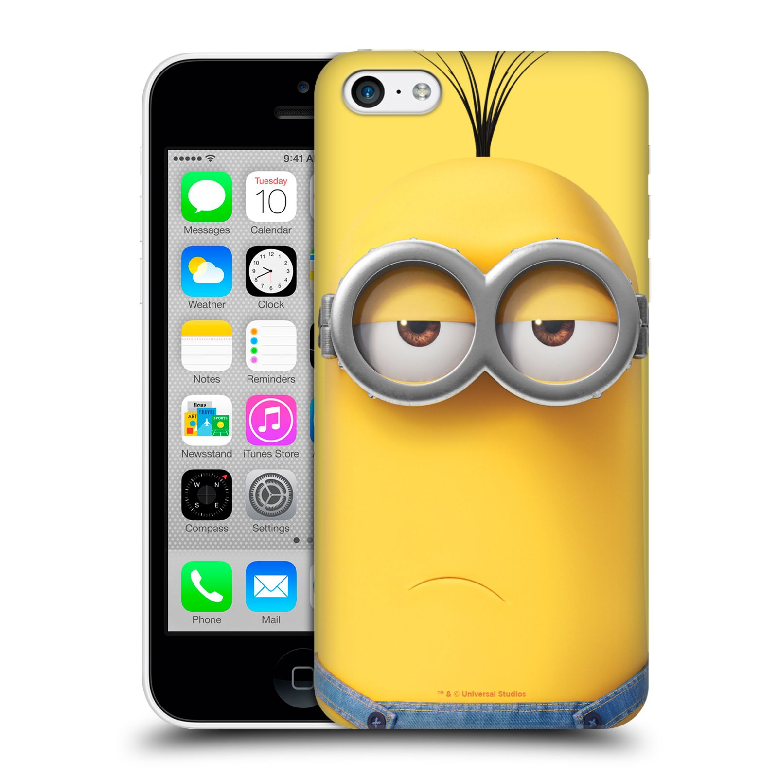 Pouzdro na mobil Apple Iphone 5C - HEAD CASE - Mimoni - Mimoň Kevin