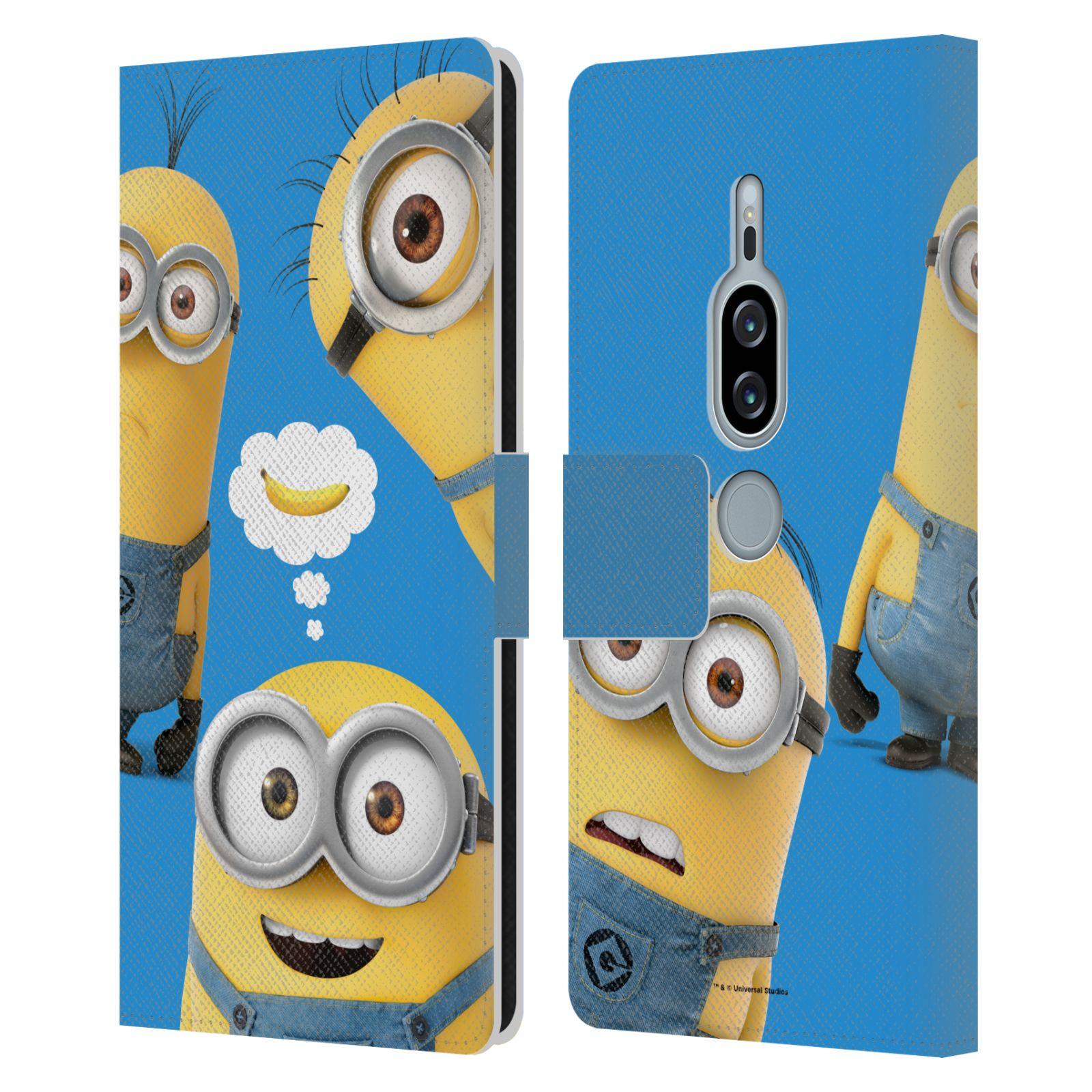 Pouzdro na mobil Sony Xperia XZ2 Premium - Head Case - Mimoni - Tři mimoni a banán