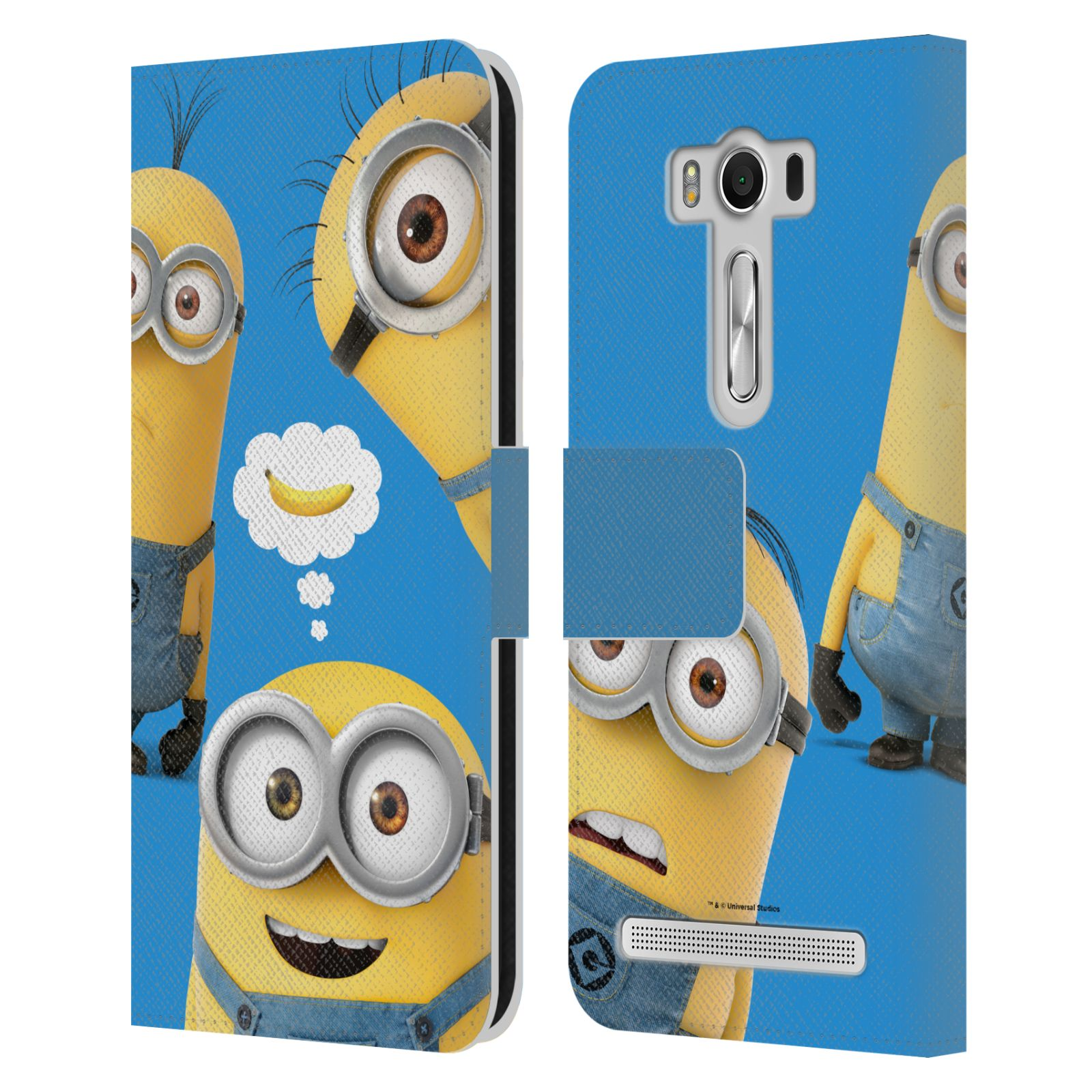 Pouzdro na mobil Asus Zenfone 2 Laser ZE500KL - Head Case - Mimoni - Tři mimoni a banán