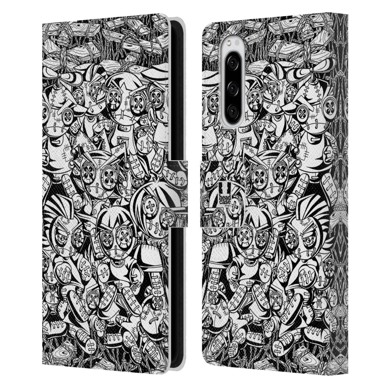Pouzdro na mobil Sony Xperia 5 woodoo panenka černobílá