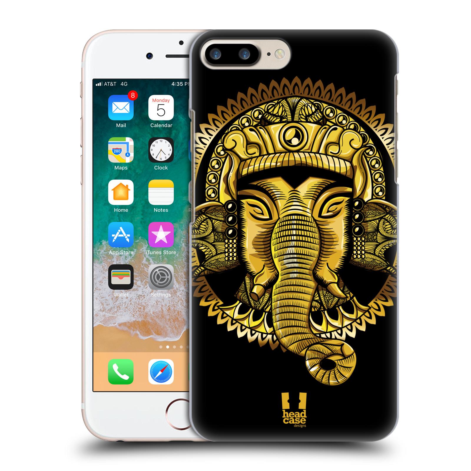 HEAD CASE plastový obal na mobil Apple Iphone 7 PLUS vzor Indie slon zlatá