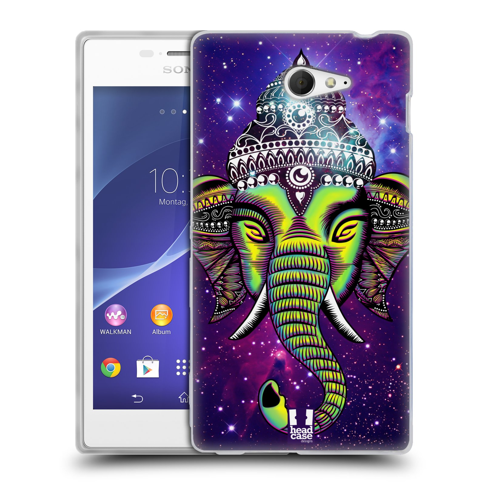HEAD CASE ELEPHANTISM SILICONE GEL CASE FOR SONY XPERIA M2