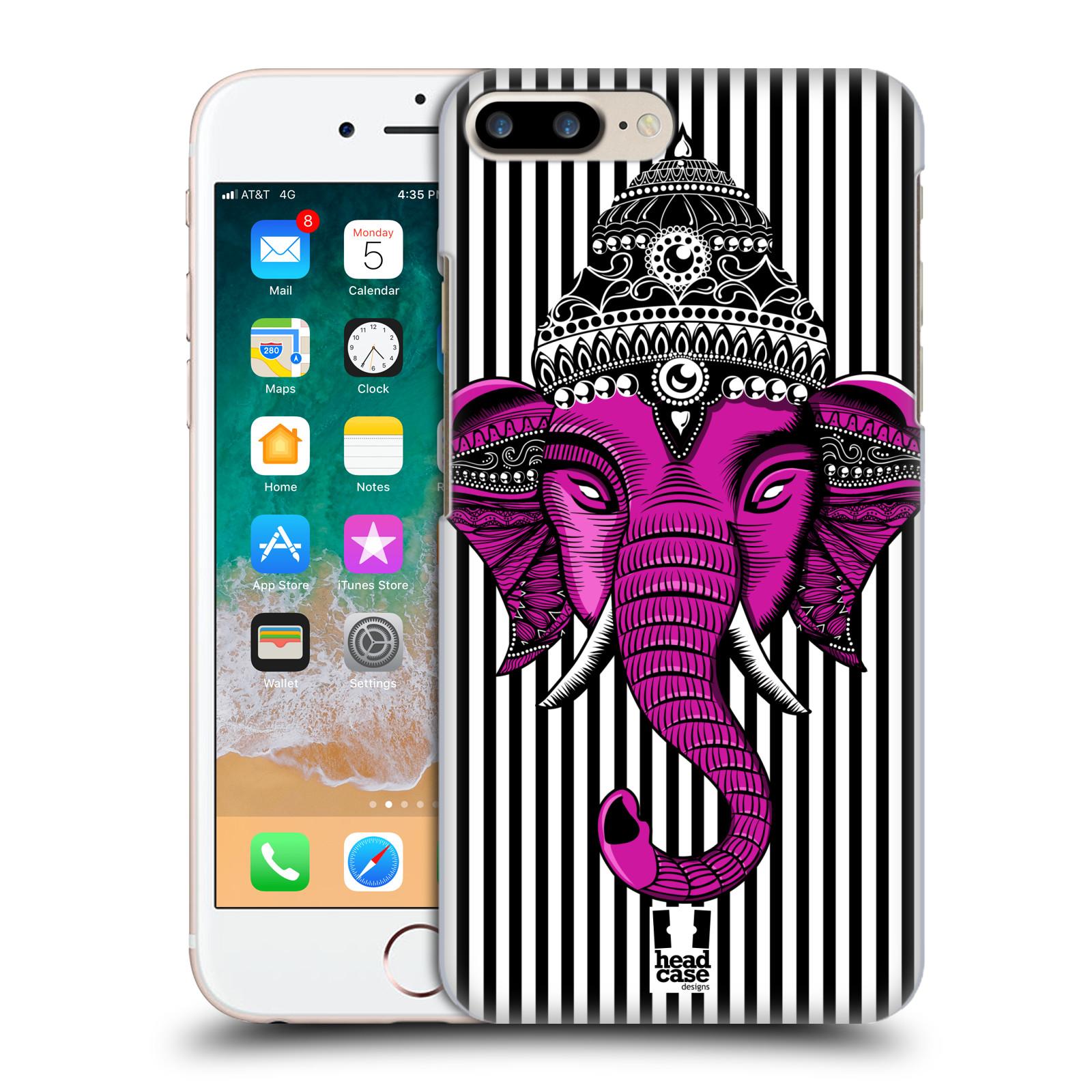 HEAD CASE plastový obal na mobil Apple Iphone 7 PLUS vzor Indie slon pruhy