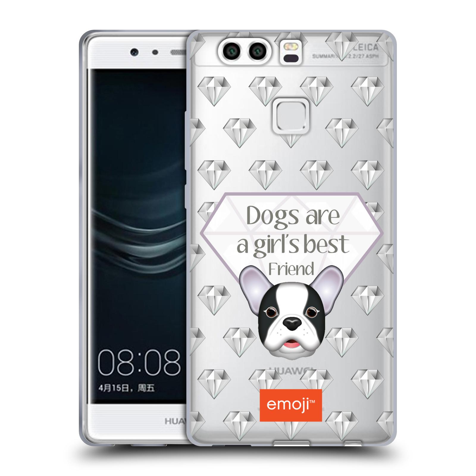 HEAD CASE silikonový obal na mobil Huawei P9 PLUS   P9 PLUS DUAL SIM  oficiální kryt EMOJI pejsek nejlepší přítel ženy 00c4cdc5060