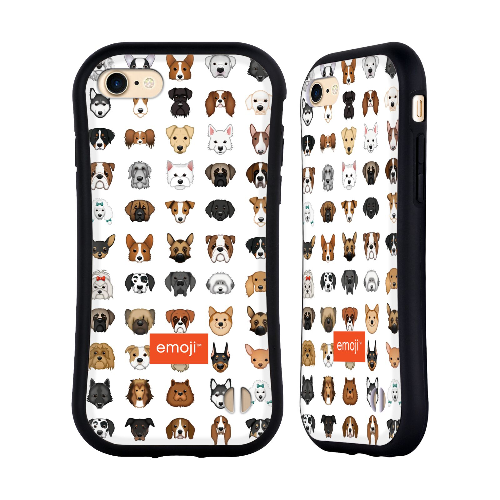 HEAD CASE odolný obal na mobil Apple Iphone 8 oficiální kryt EMOJI rasy pejsků série 2