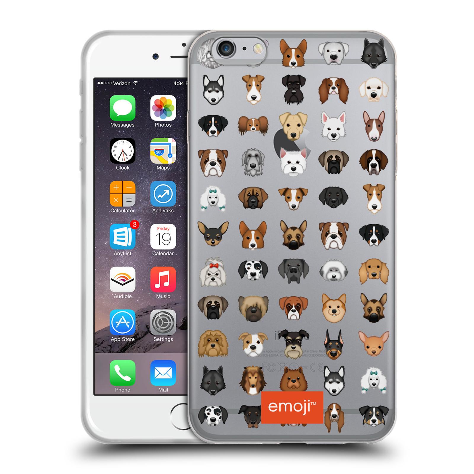 HEAD CASE silikonový obal na mobil Apple Iphone 6/6S PLUS oficiální kryt EMOJI rasy pejsků série 2