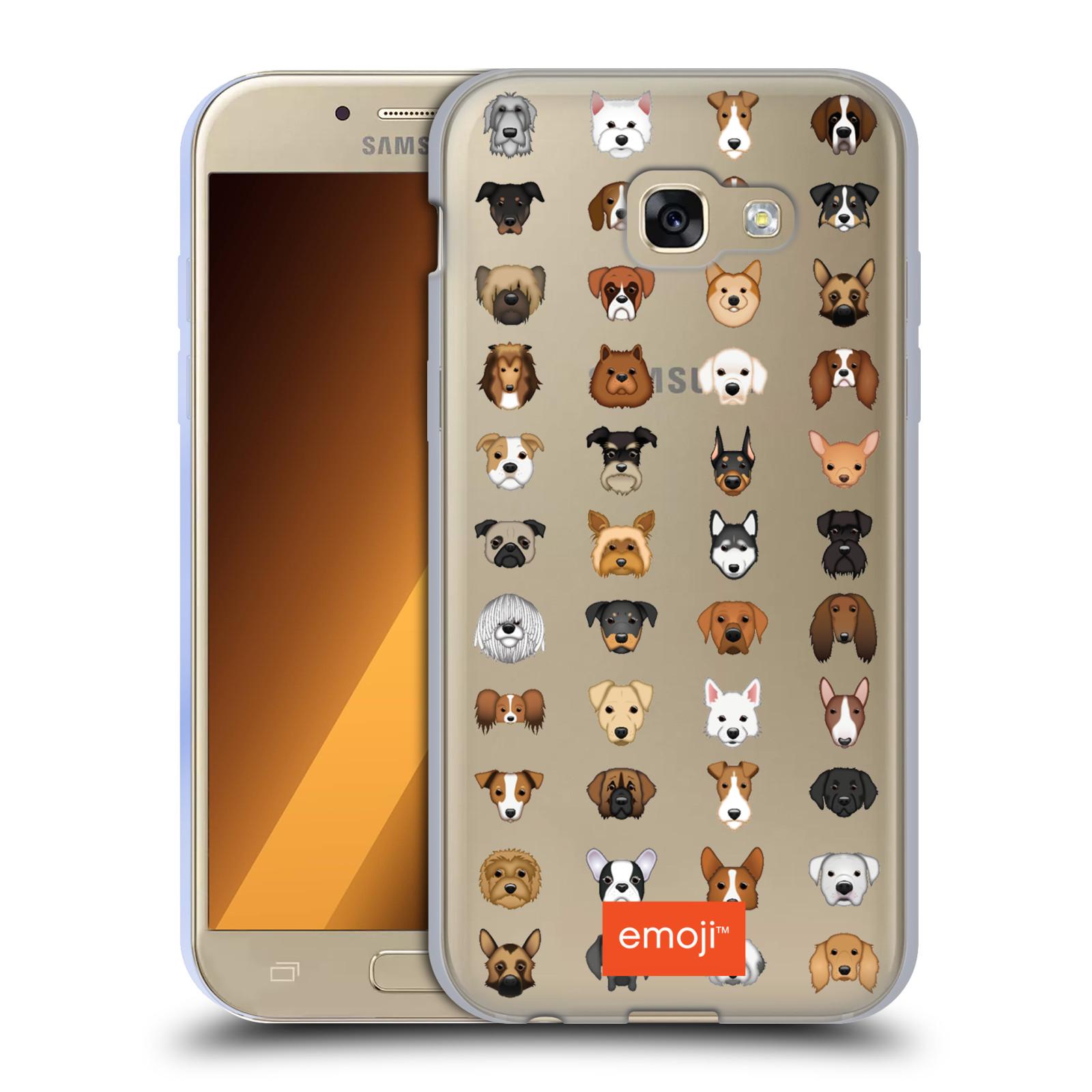 HEAD CASE silikonový obal na mobil Samsung Galaxy A5 2017 (A520) oficiální  kryt EMOJI rasy pejsků 0a99c0ca206