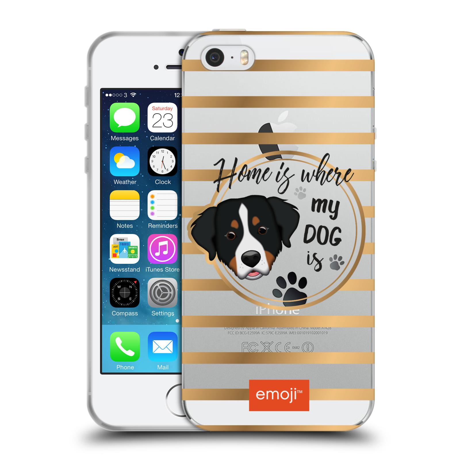 HEAD CASE silikonový obal na mobil Apple Iphone 5 5S oficiální kryt EMOJI  pejskův domov 893d2954eca