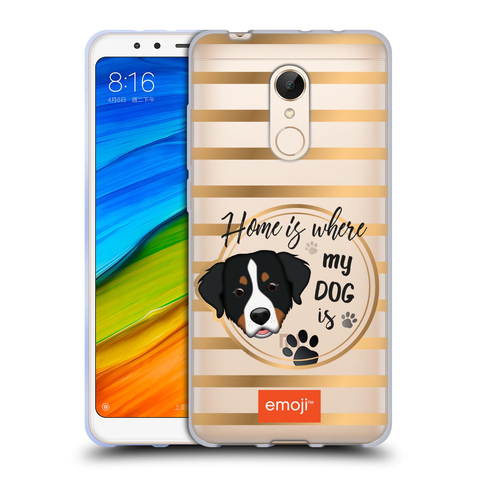 87f1efb04b4 HEAD CASE silikonový obal na mobil Xiaomi Redmi 5 oficiální kryt EMOJI  pejskův domov