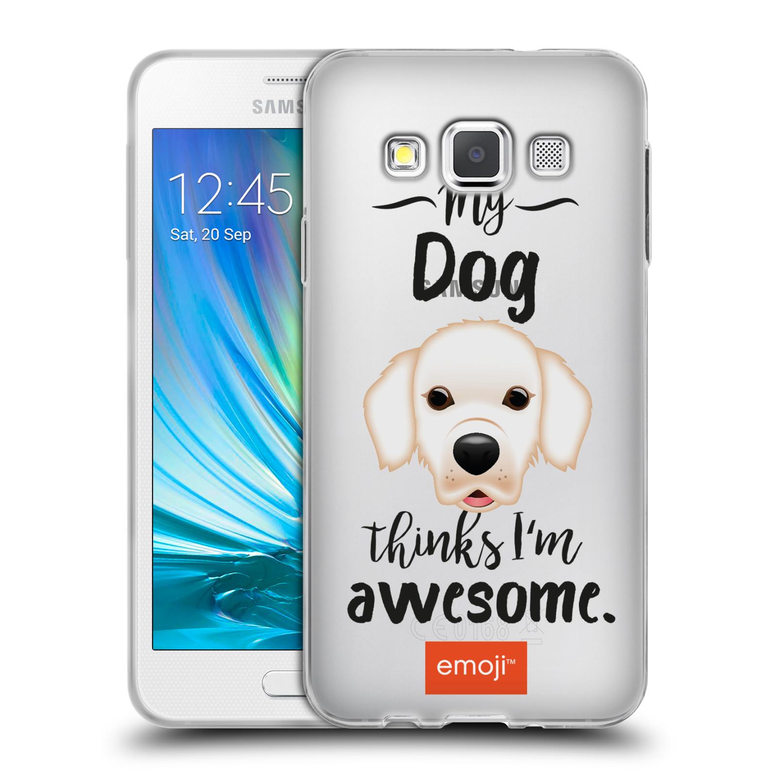 HEAD CASE silikonový obal na mobil Samsung Galaxy A3 (A300) oficiální kryt EMOJI Labrador