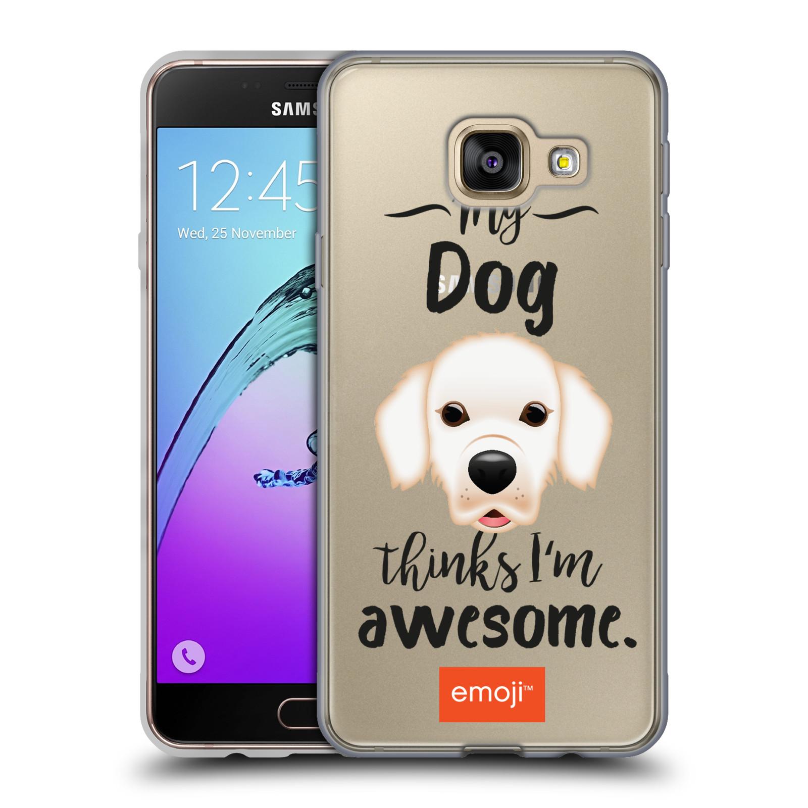 HEAD CASE silikonový obal na mobil Samsung Galaxy A3 2016 (A310) oficiální kryt EMOJI Labrador