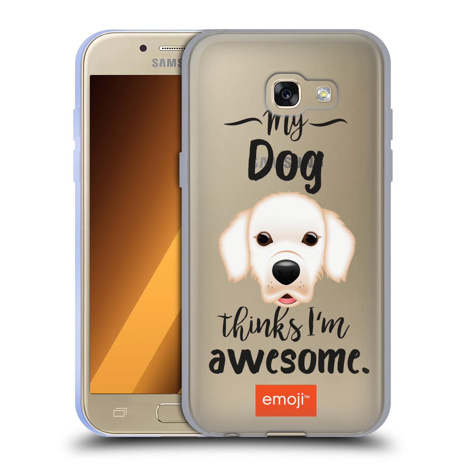 HEAD CASE silikonový obal na mobil Samsung Galaxy A3 2017 (A320) oficiální kryt EMOJI Labrador