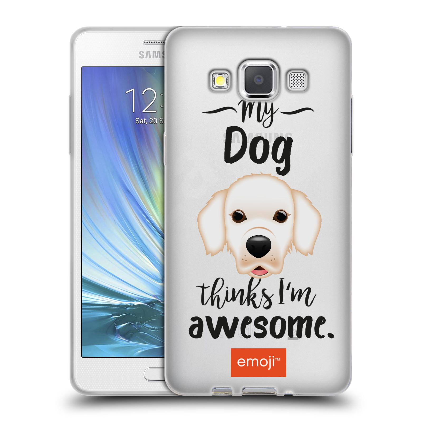 HEAD CASE silikonový obal na mobil Samsung Galaxy A5 (A500) oficiální kryt EMOJI Labrador