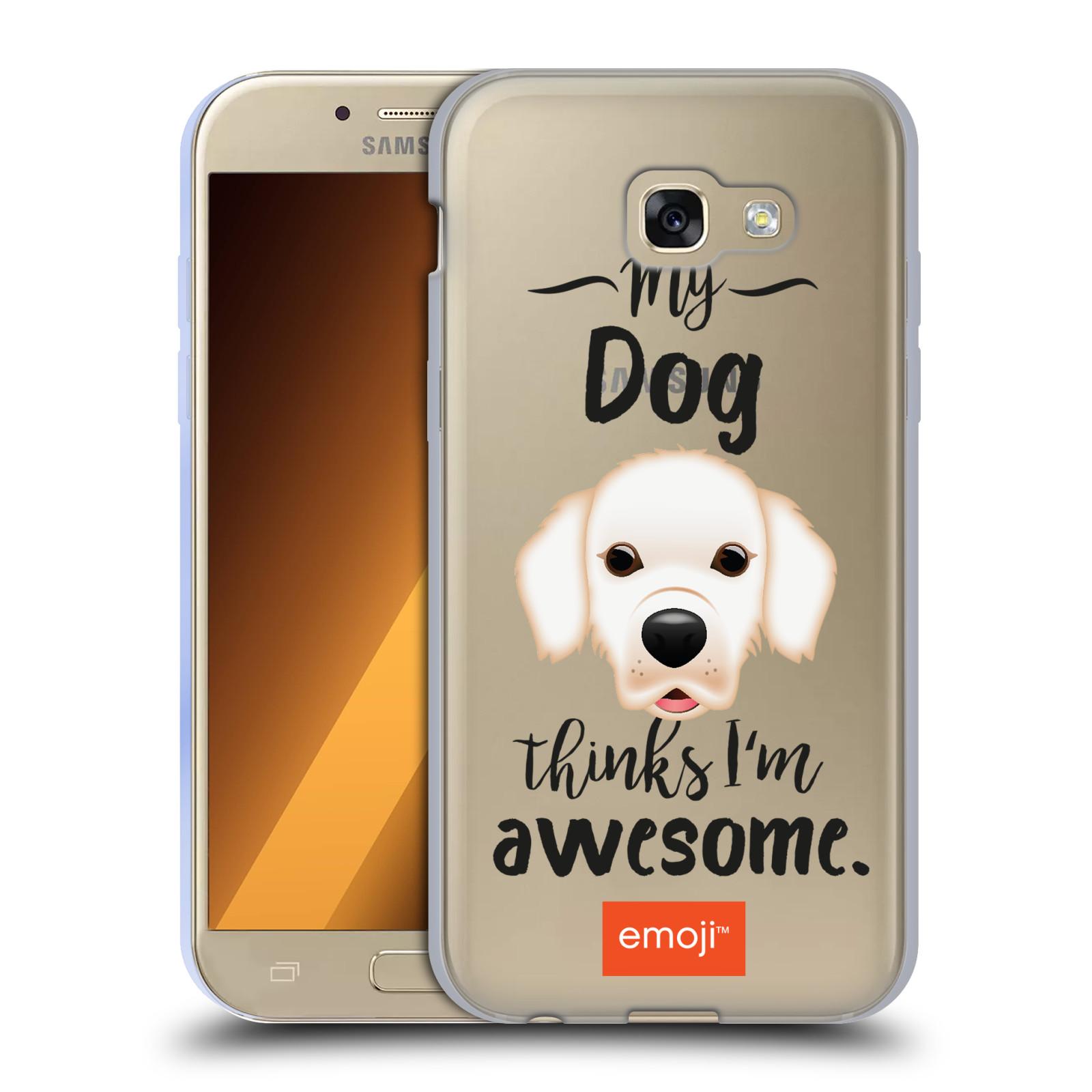 HEAD CASE silikonový obal na mobil Samsung Galaxy A5 2017 (A520) oficiální kryt EMOJI Labrador