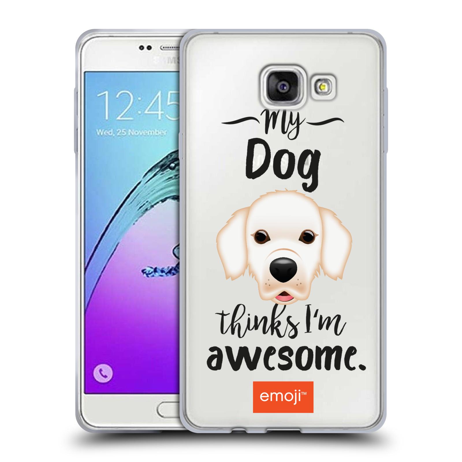 HEAD CASE silikonový obal na mobil Samsung Galaxy A7 2017 (A720) oficiální kryt EMOJI Labrador