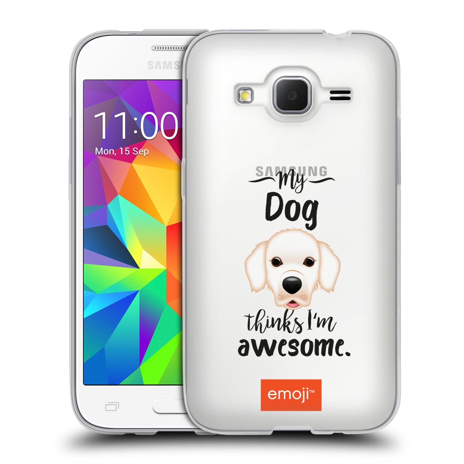 HEAD CASE silikonový obal na mobil Samsung Galaxy Core Prime (G360) oficiální kryt EMOJI Labrador
