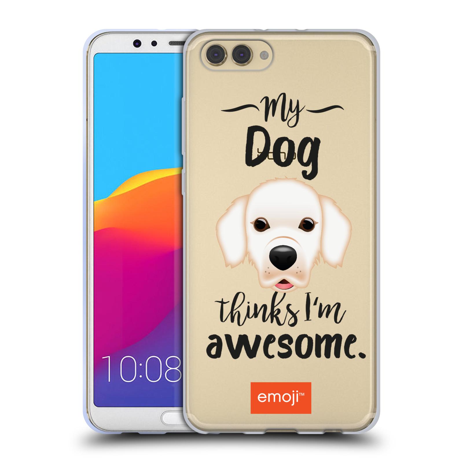 HEAD CASE silikonový obal na mobil Huawei HONOR VIEW 10 / V10 oficiální kryt EMOJI Labrador