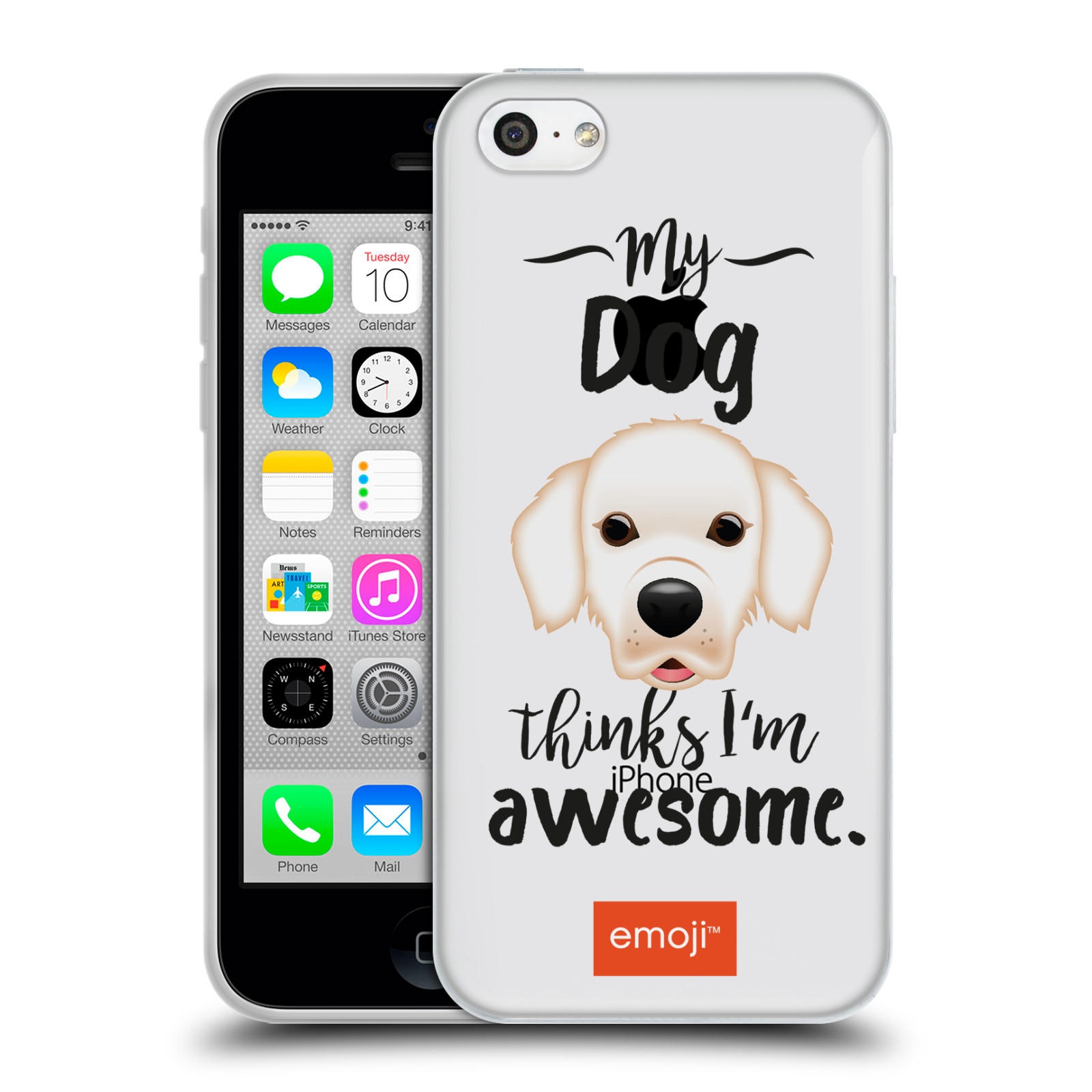 HEAD CASE silikonový obal na mobil Apple Iphone 5C oficiální kryt EMOJI Labrador