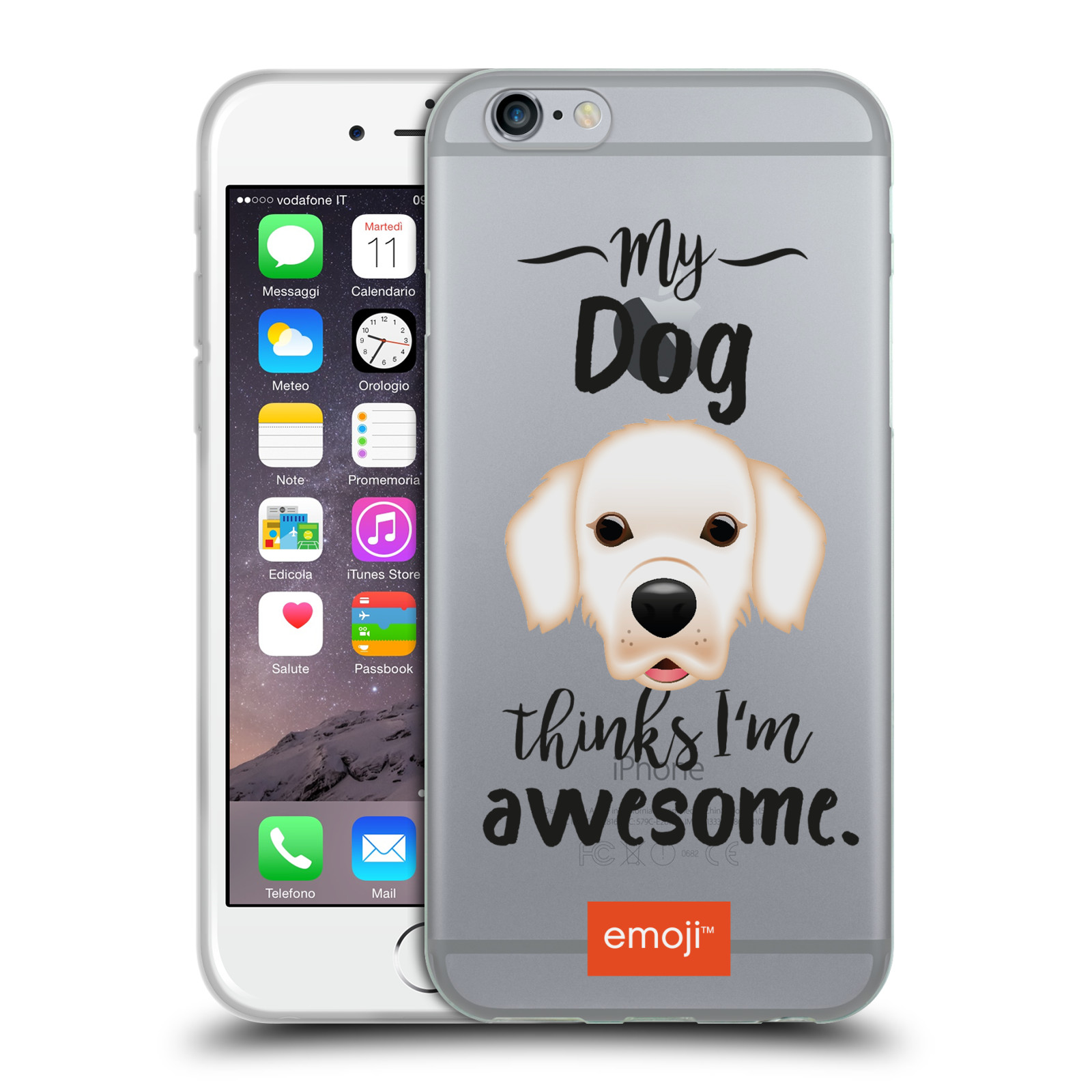 HEAD CASE silikonový obal na mobil Apple Iphone 6/6S oficiální kryt EMOJI Labrador