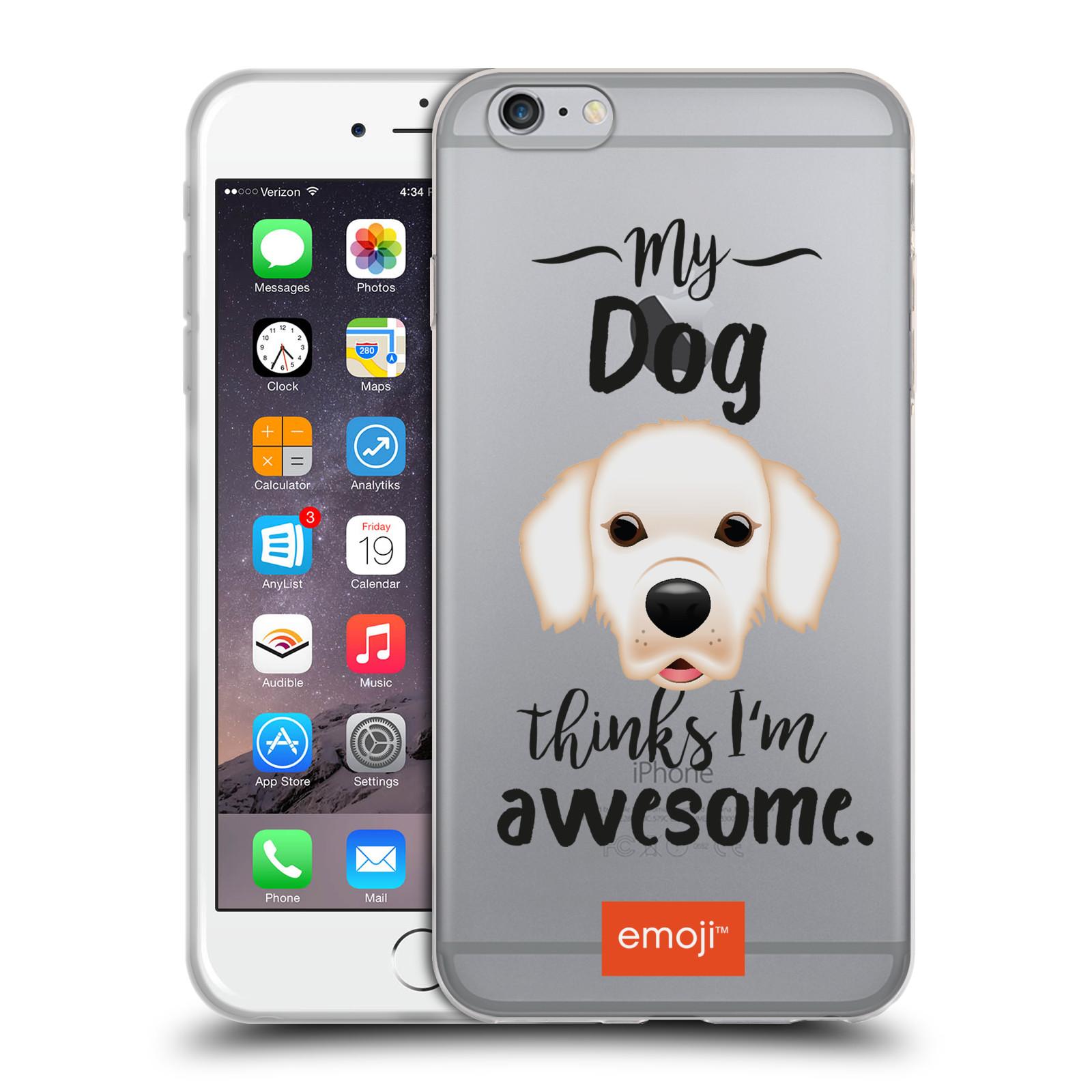 HEAD CASE silikonový obal na mobil Apple Iphone 6/6S PLUS oficiální kryt EMOJI Labrador