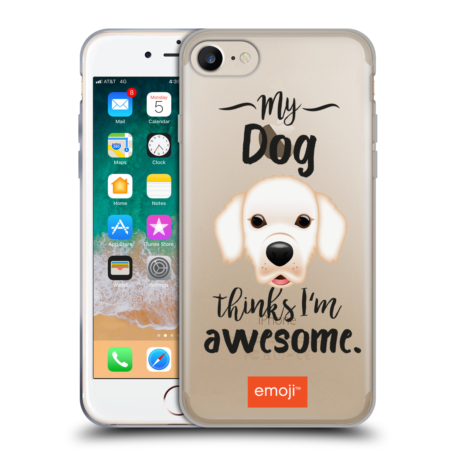 HEAD CASE silikonový obal na mobil Apple Iphone 7 oficiální kryt EMOJI Labrador