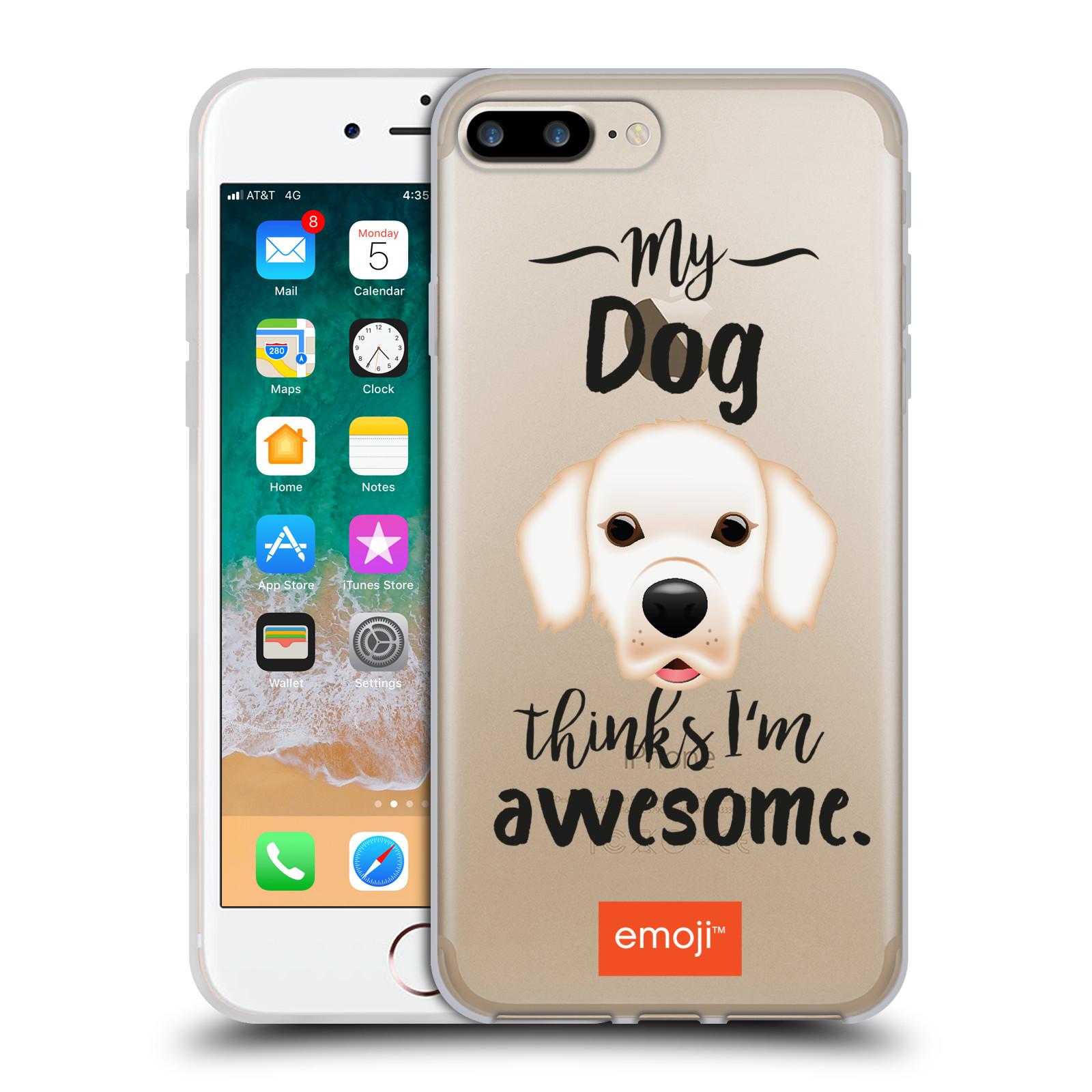 HEAD CASE silikonový obal na mobil Apple Iphone 7 PLUS oficiální kryt EMOJI Labrador