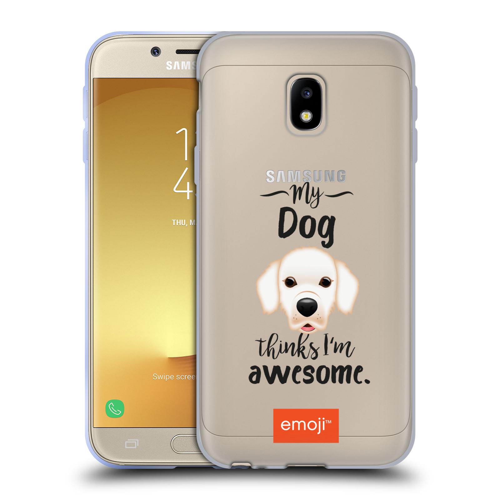 HEAD CASE silikonový obal na mobil Samsung Galaxy J3 2017 (J330, J330F) oficiální kryt EMOJI Labrador