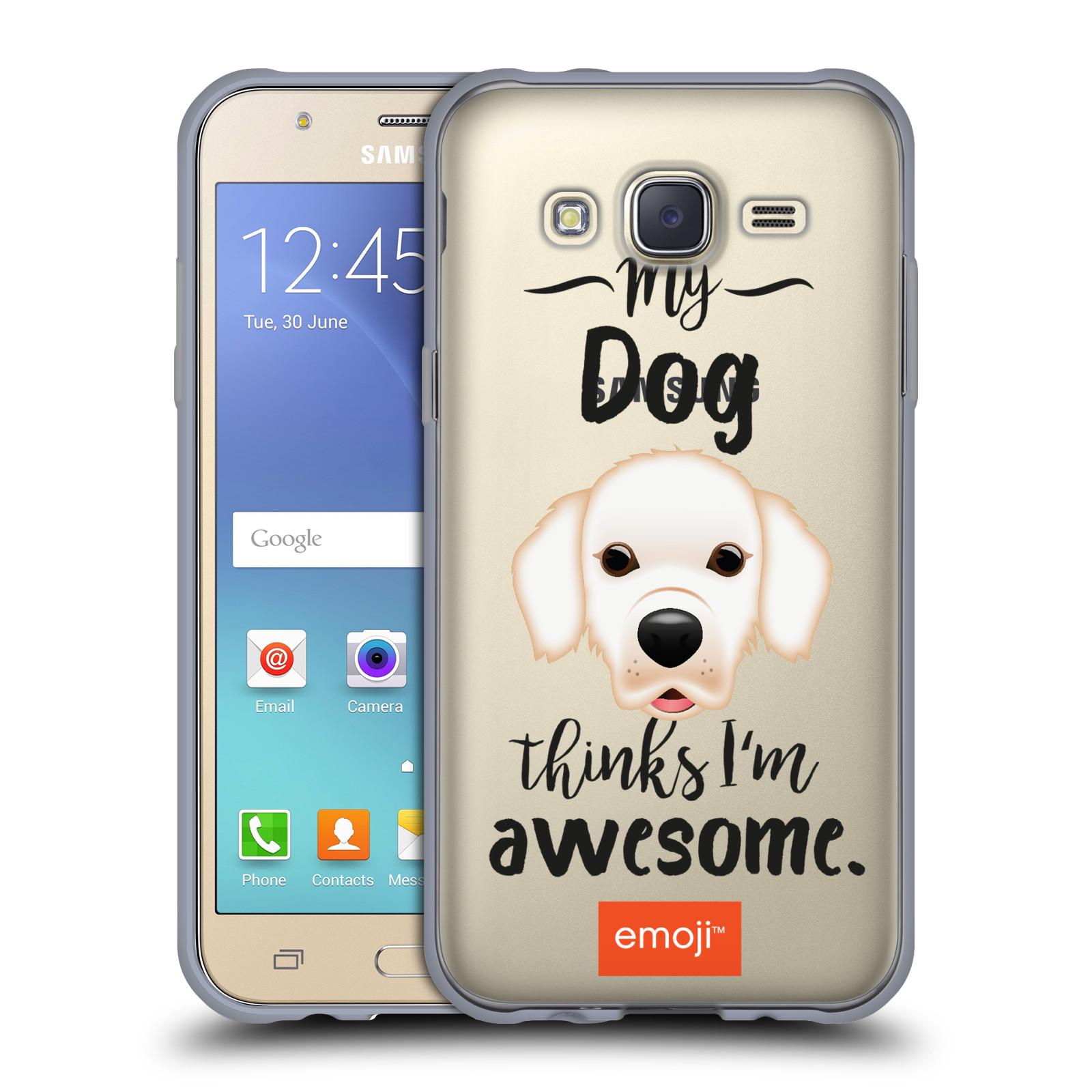 HEAD CASE silikonový obal na mobil Samsung Galaxy J5 2015 (J500) oficiální kryt EMOJI Labrador