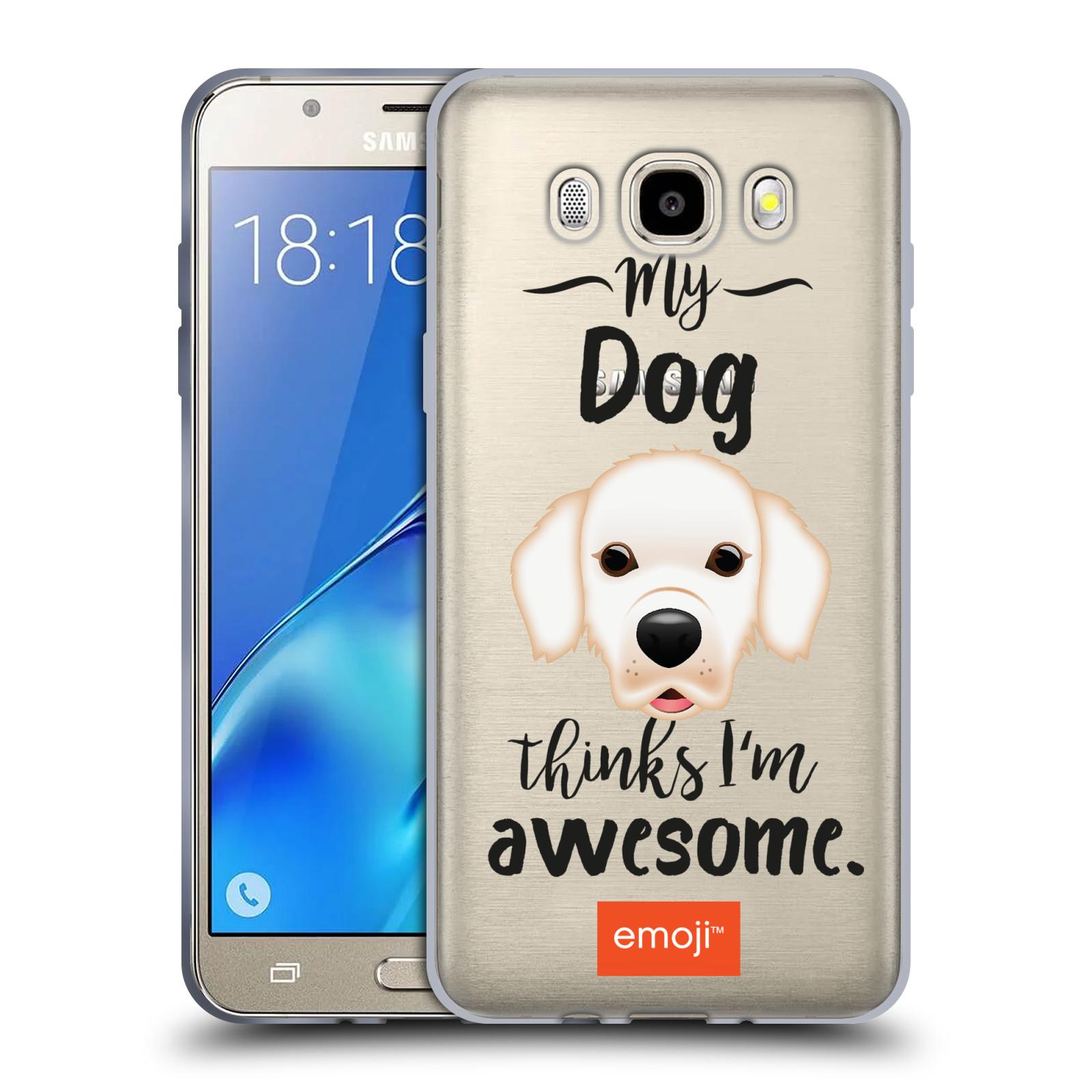 HEAD CASE silikonový obal na mobil Samsung Galaxy J5 2016 (J510) oficiální kryt EMOJI Labrador