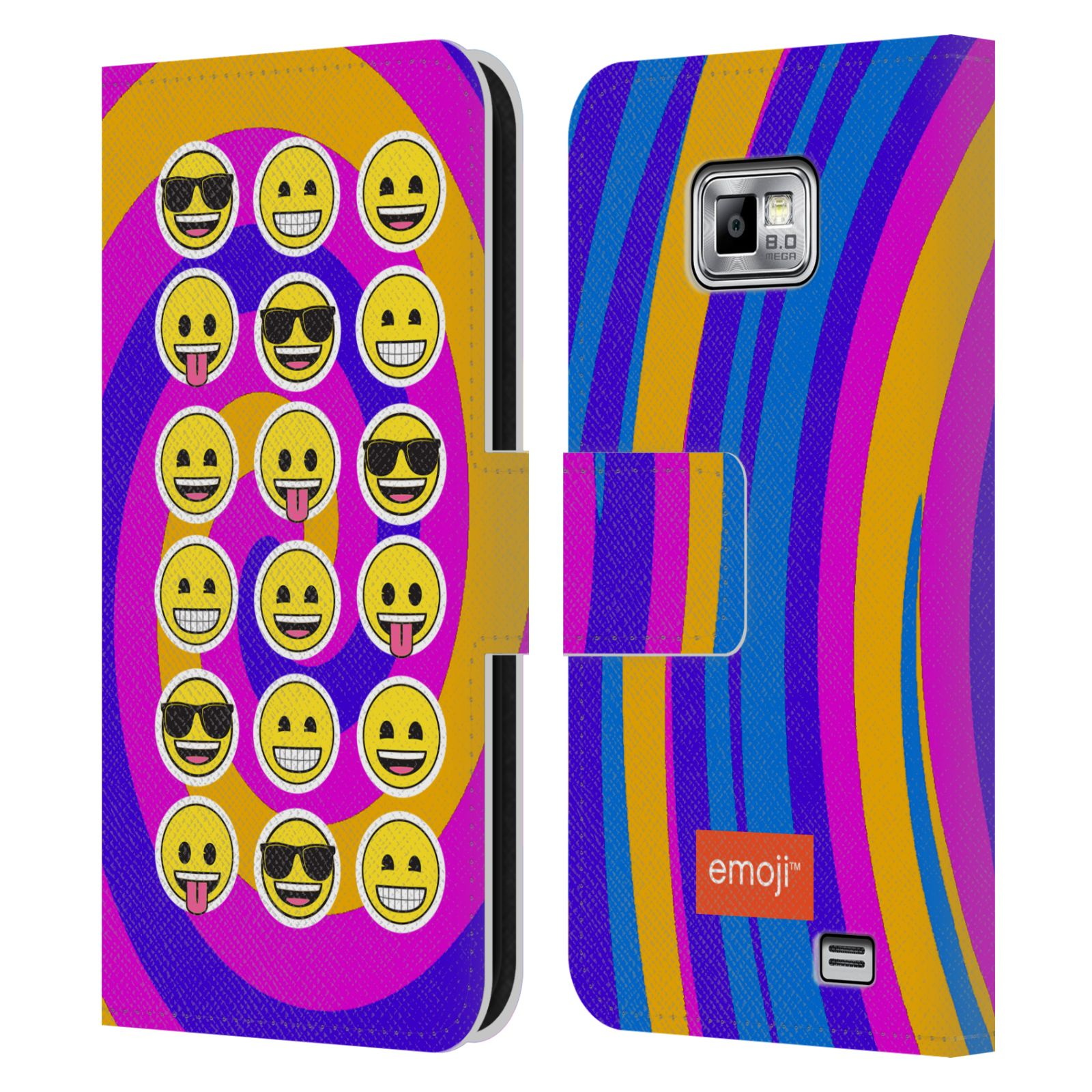 Diy Emoji Book Cover : Official emoji flat leather book wallet case cover for