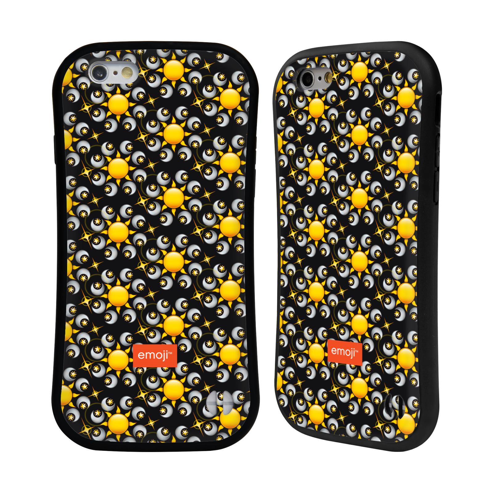 official emoji floral patterns hybrid case for apple