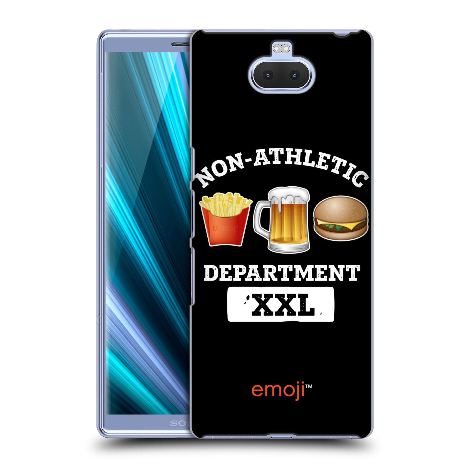 Pouzdro na mobil Sony Xperia 10 Plus - Head Case - smajlíci oficiální kryt EMOJI vzor NEJSEM ATLET