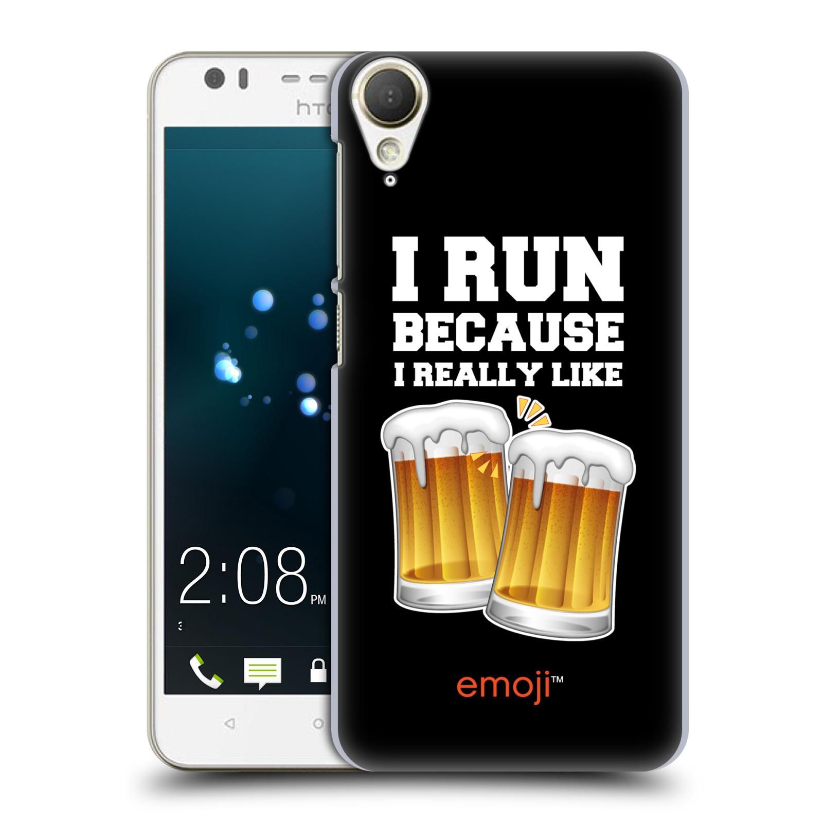 HEAD CASE plastový obal na mobil HTC Desire 10 Lifestyle smajlíci oficiální kryt EMOJI vzor sklenice piva
