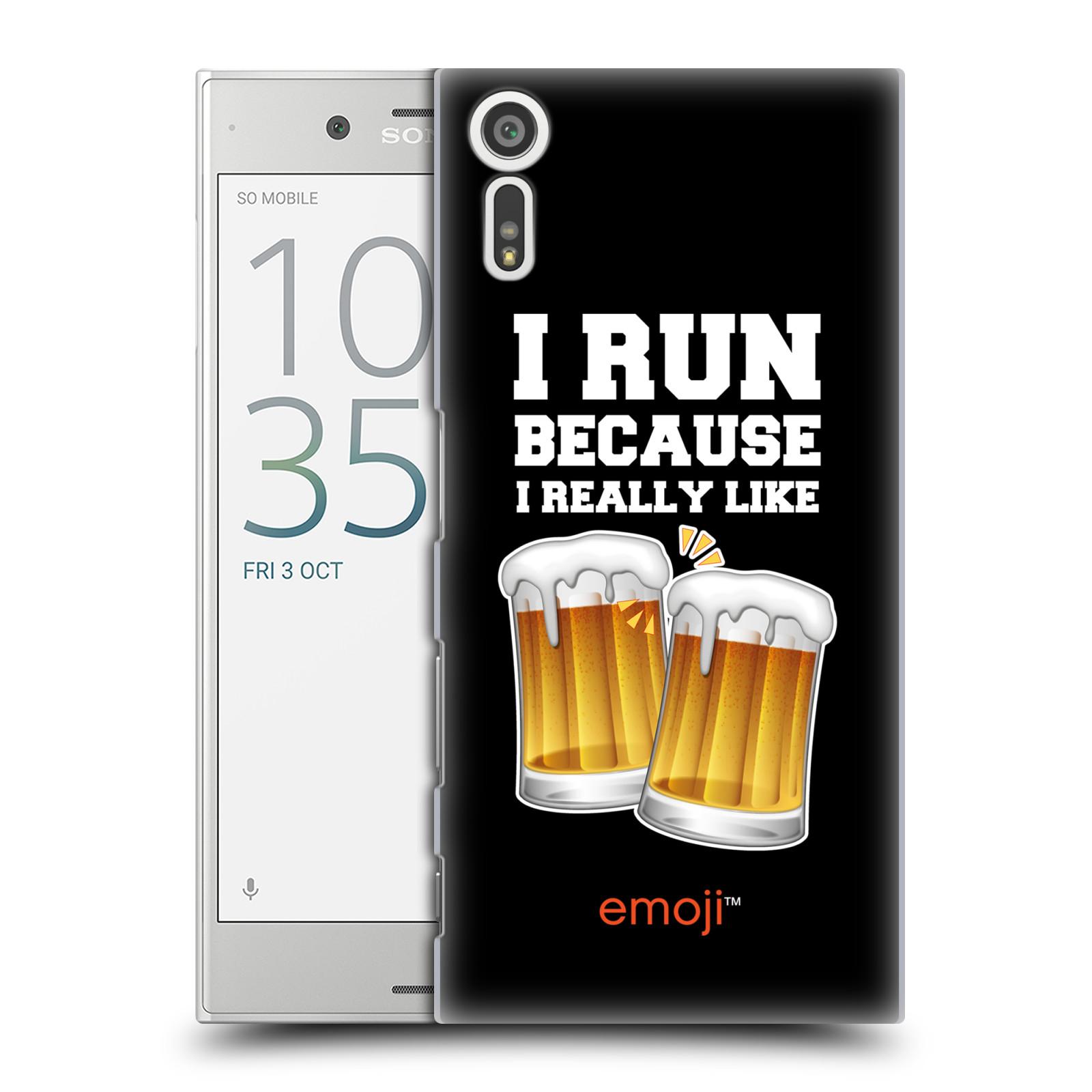 HEAD CASE plastový obal na mobil Sony Xperia XZ smajlíci oficiální kryt EMOJI vzor sklenice piva