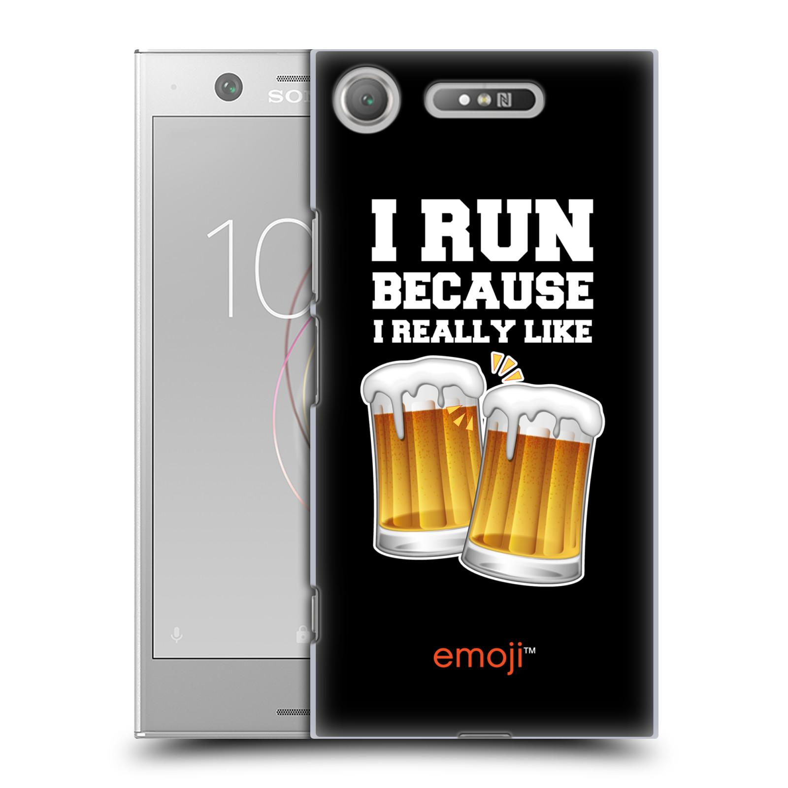 HEAD CASE plastový obal na mobil Sony Xperia XZ1 smajlíci oficiální kryt EMOJI vzor sklenice piva