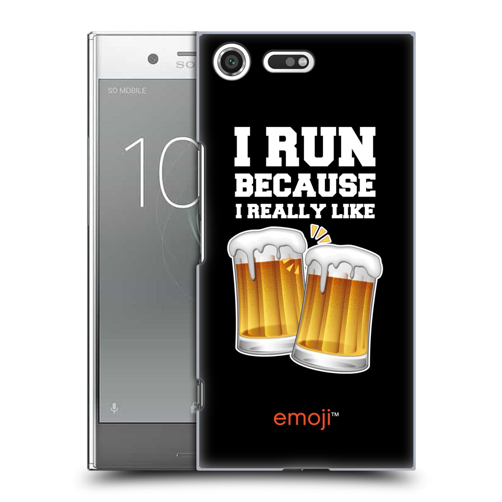HEAD CASE plastový obal na mobil Sony Xperia XZ PREMIUM smajlíci oficiální kryt EMOJI vzor sklenice piva