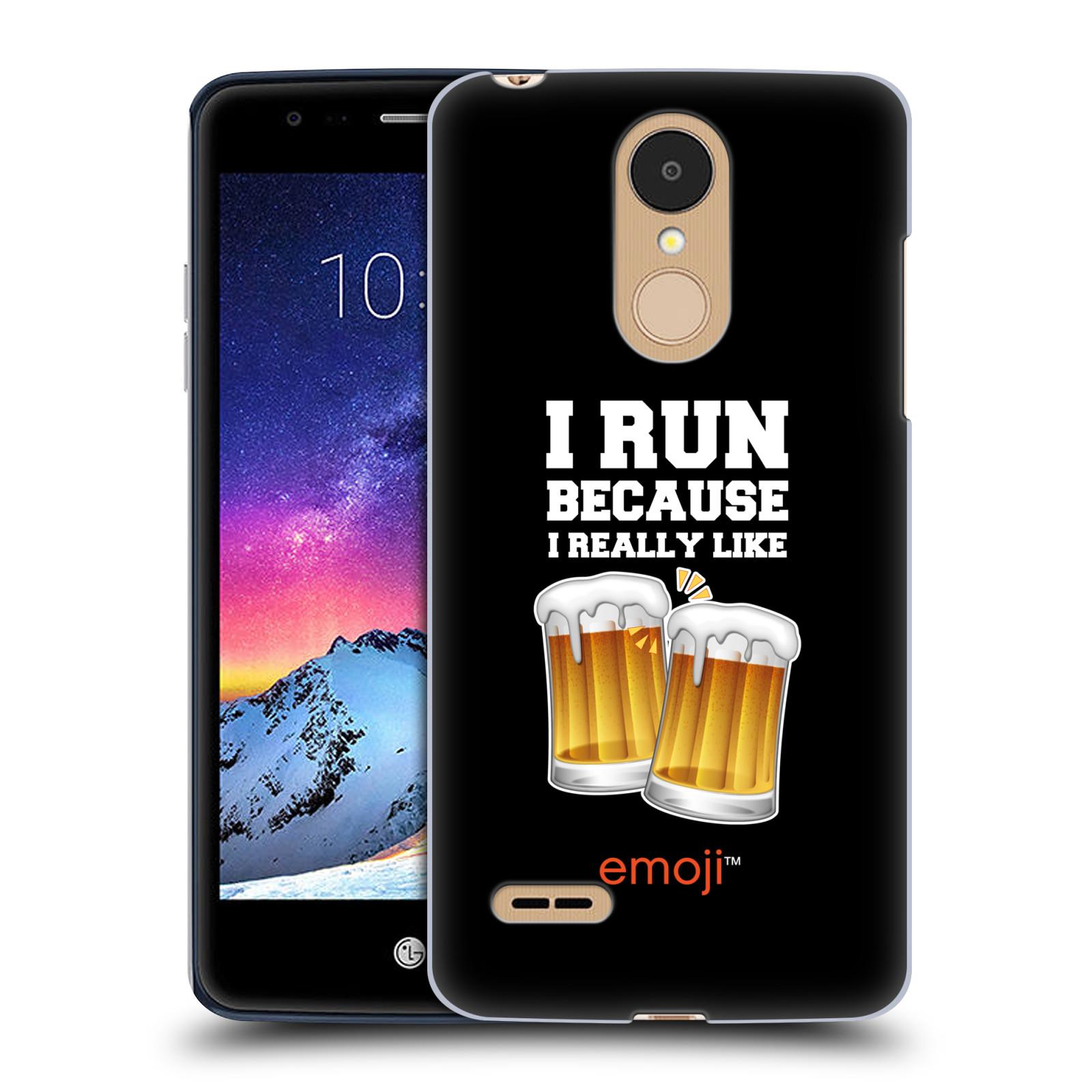 HEAD CASE plastový obal na mobil LG K9 / K8 2018 smajlíci oficiální kryt EMOJI vzor sklenice piva