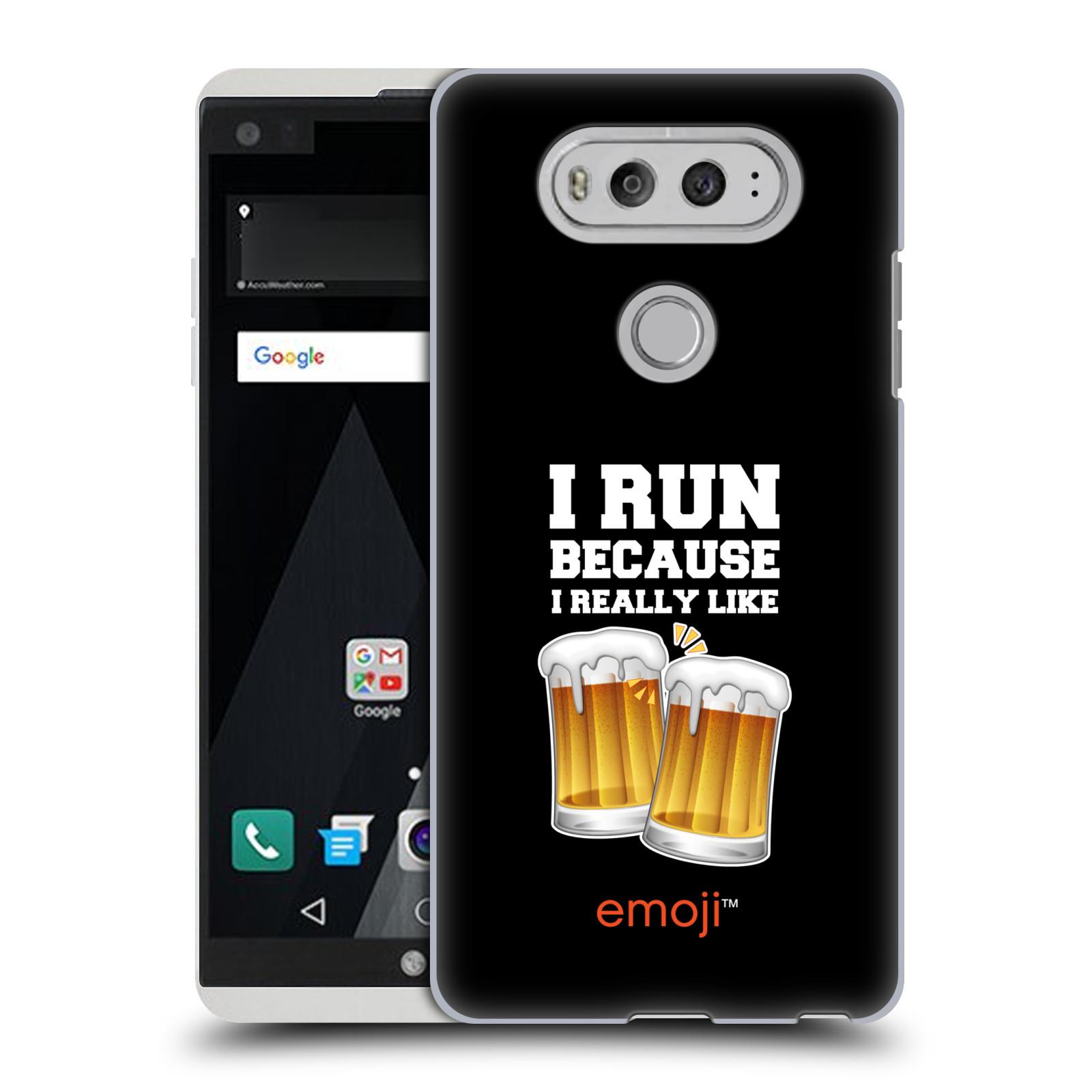 HEAD CASE plastový obal na mobil LG V20 smajlíci oficiální kryt EMOJI vzor sklenice piva