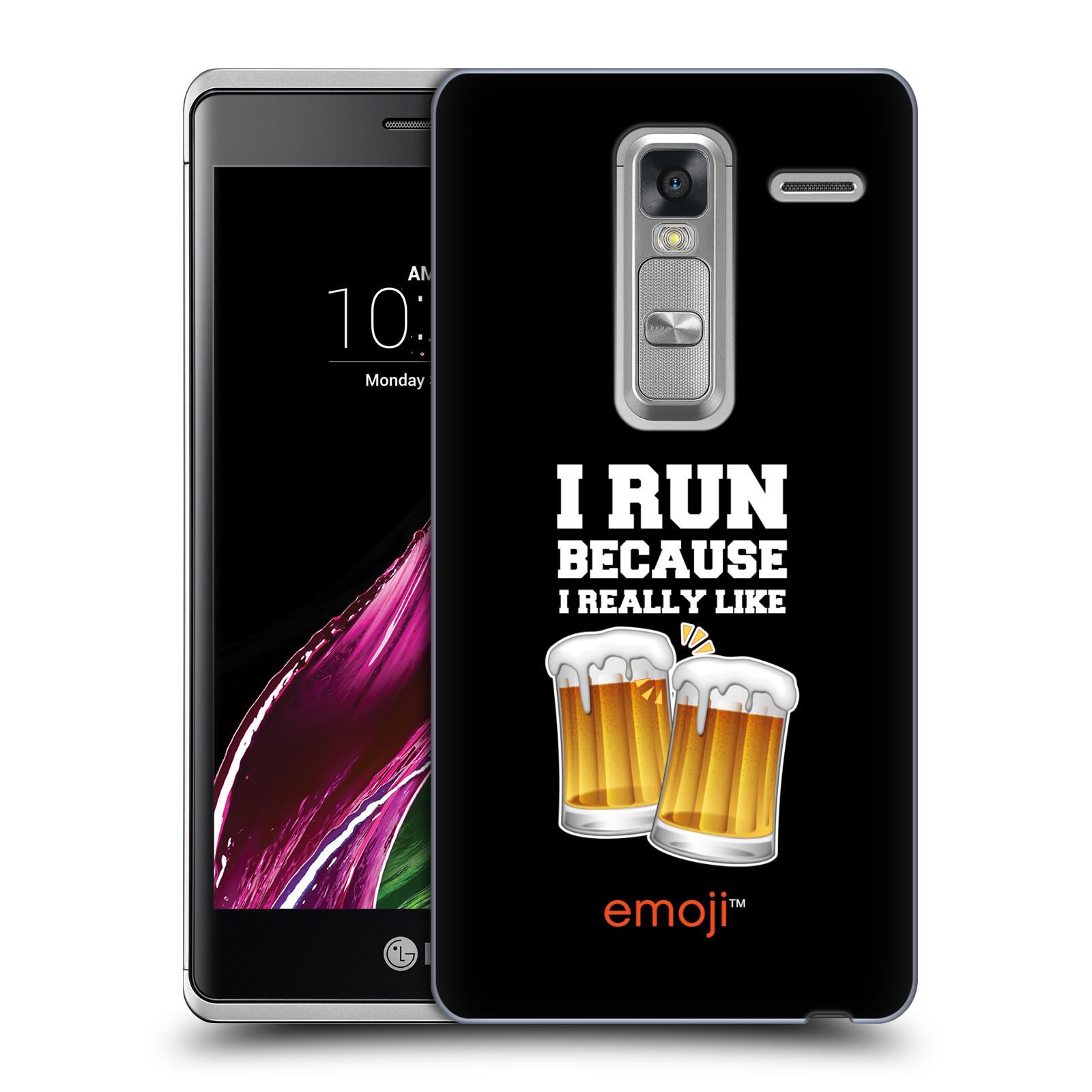 HEAD CASE plastový obal na mobil LG ZERO smajlíci oficiální kryt EMOJI vzor sklenice piva