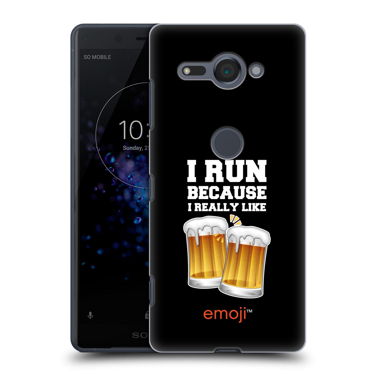 HEAD CASE plastový obal na mobil Sony Xperia XZ2 COMPACT smajlíci oficiální kryt EMOJI vzor sklenice piva