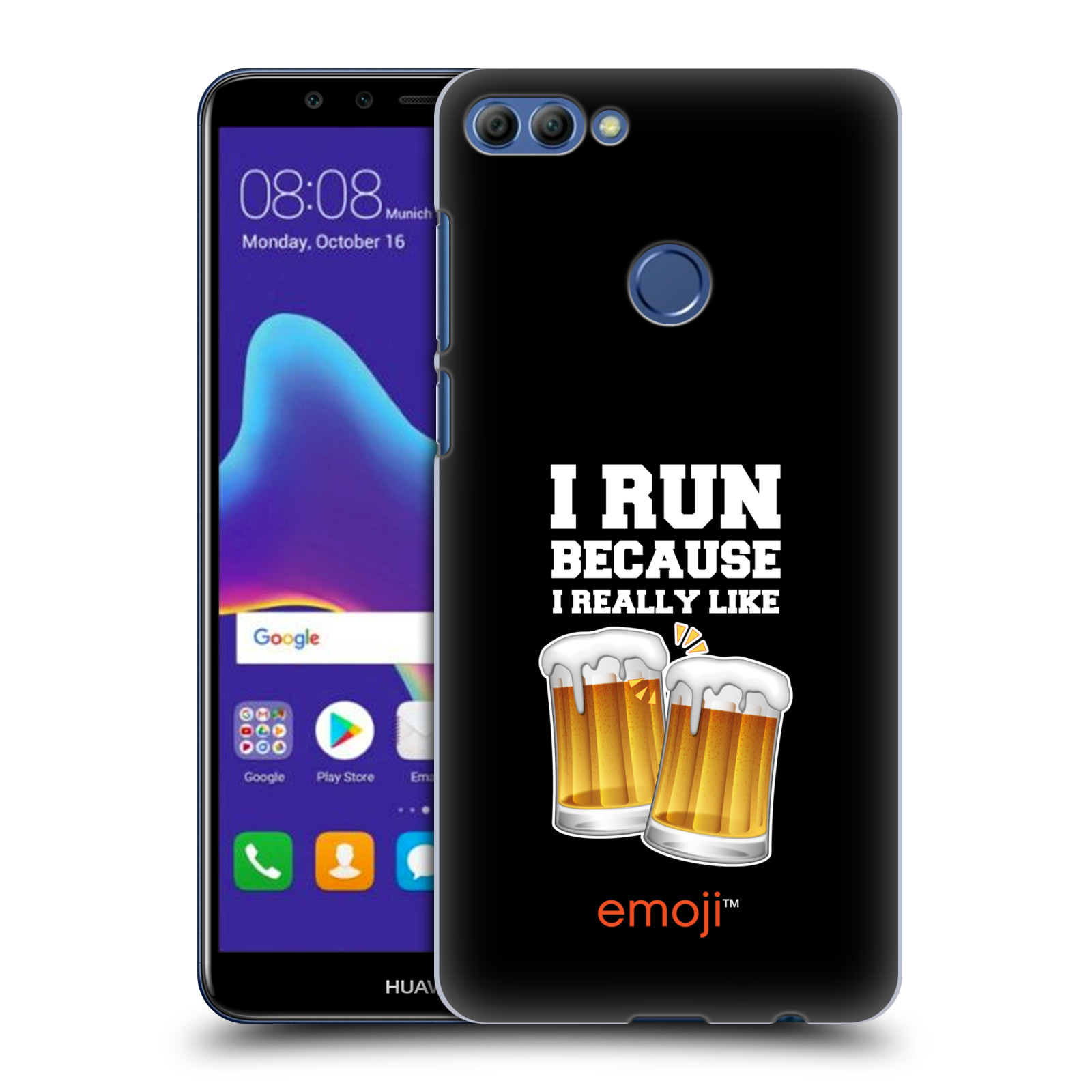 HEAD CASE plastový obal na mobil Huawei Y9 2018 smajlíci oficiální kryt EMOJI vzor sklenice piva