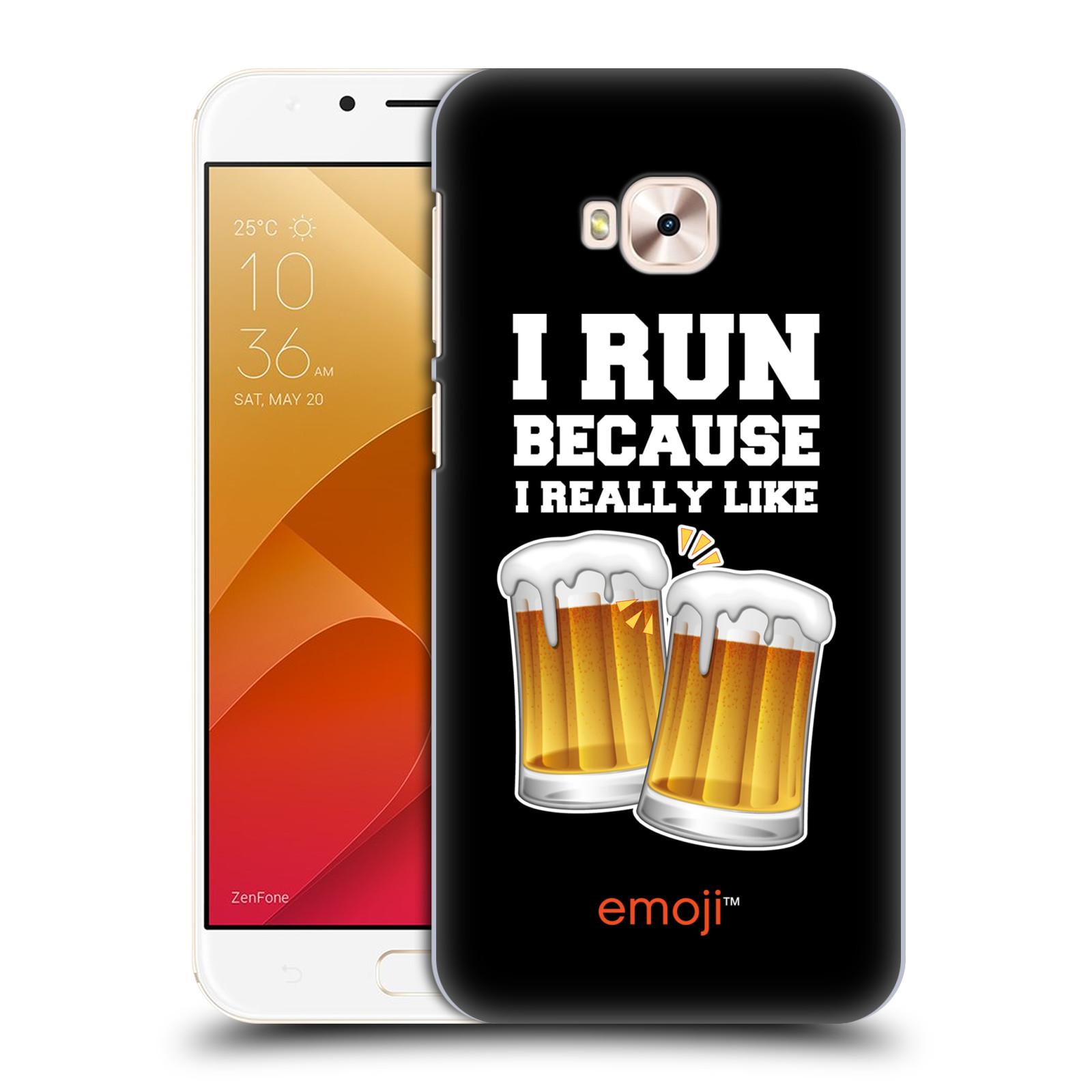 HEAD CASE plastový obal na mobil Asus Zenfone 4 Selfie Pro ZD552KL smajlíci oficiální kryt EMOJI vzor sklenice piva