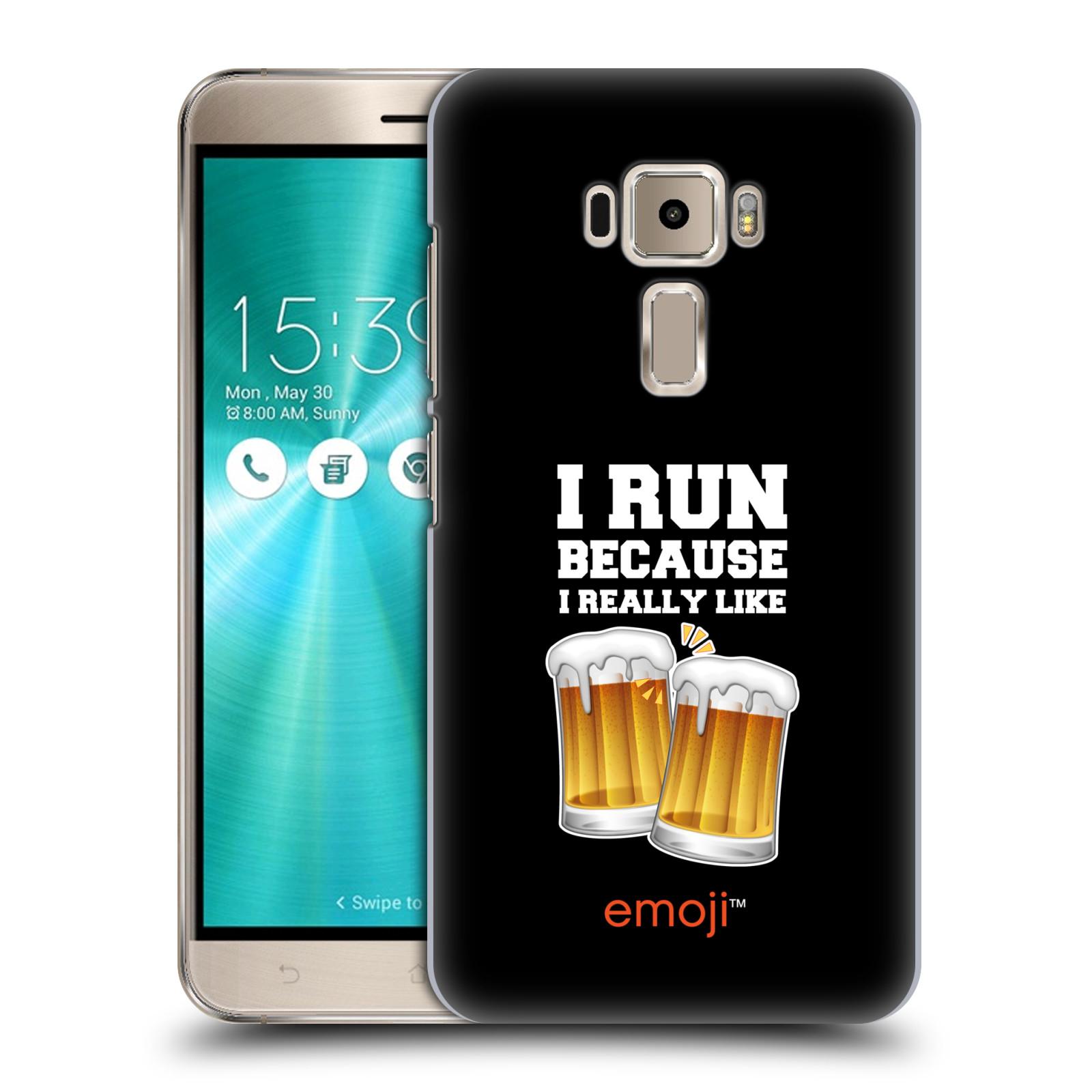 HEAD CASE plastový obal na mobil Asus Zenfone 3 ZE520KL smajlíci oficiální kryt EMOJI vzor sklenice piva