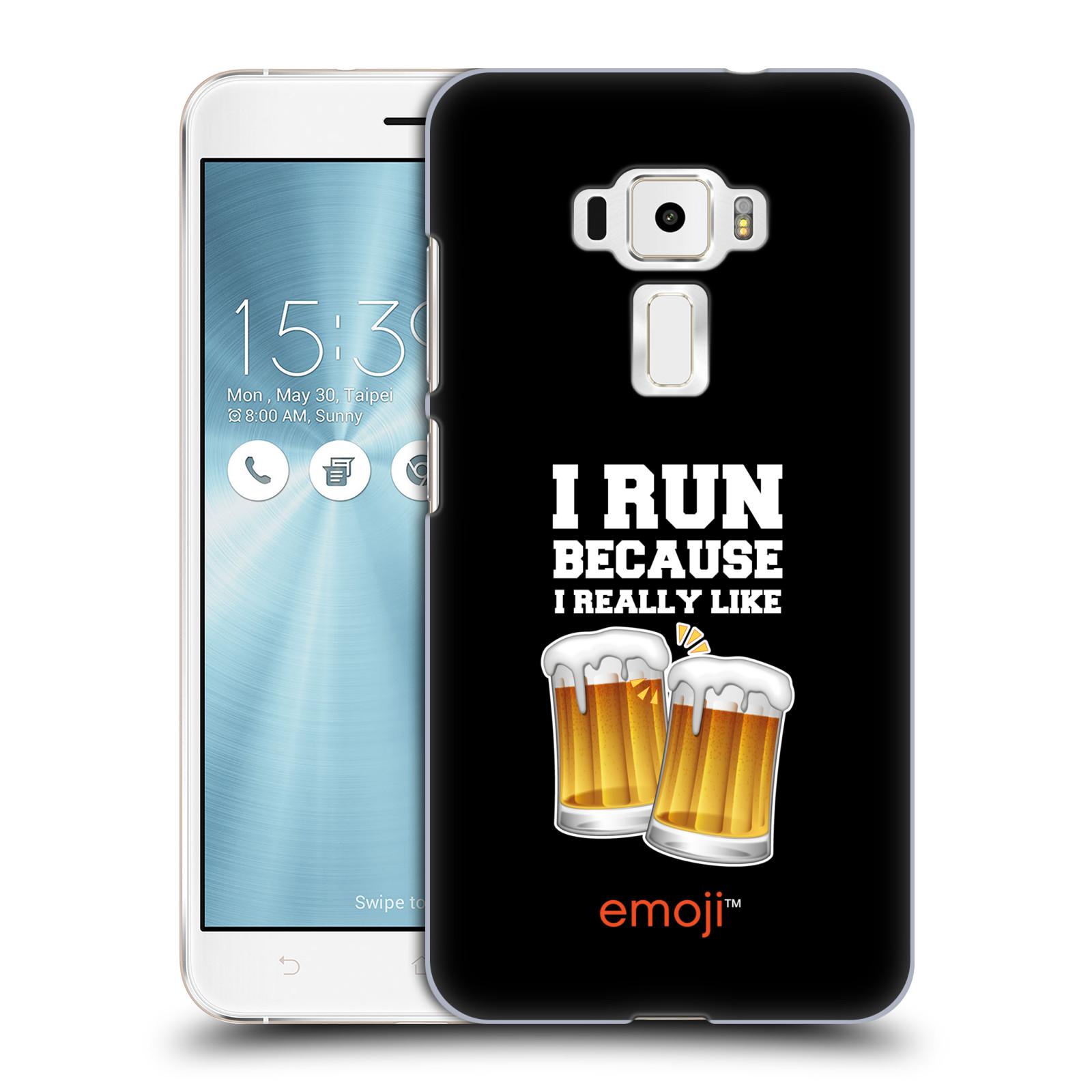 HEAD CASE plastový obal na mobil Asus Zenfone 3 ZE552KL smajlíci oficiální kryt EMOJI vzor sklenice piva