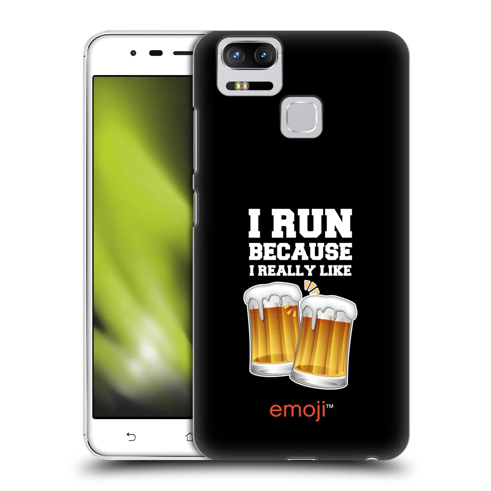 HEAD CASE plastový obal na mobil Asus Zenfone 3 Zoom ZE553KL smajlíci oficiální kryt EMOJI vzor sklenice piva