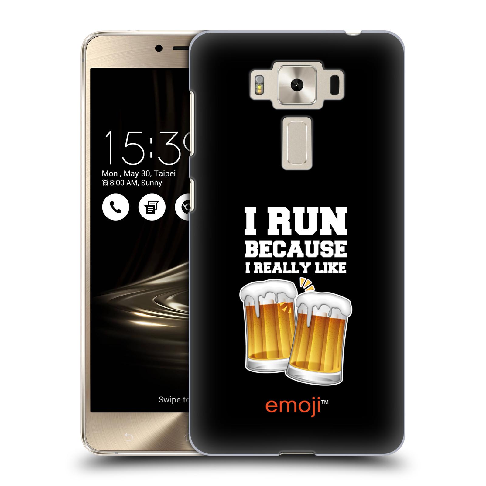 HEAD CASE plastový obal na mobil Asus Zenfone 3 DELUXE ZS550KL smajlíci oficiální kryt EMOJI vzor sklenice piva