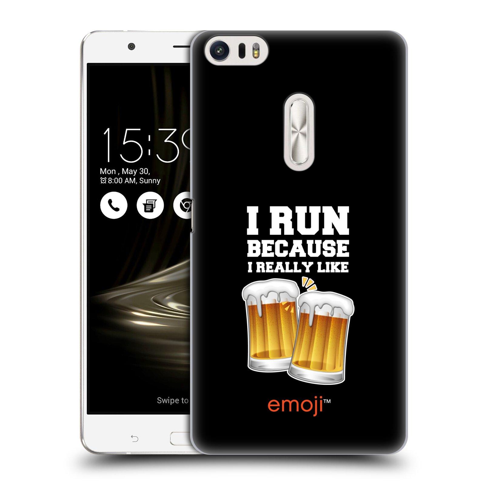 HEAD CASE plastový obal na mobil Asus Zenfone 3 Ultra ZU680KL smajlíci oficiální kryt EMOJI vzor sklenice piva