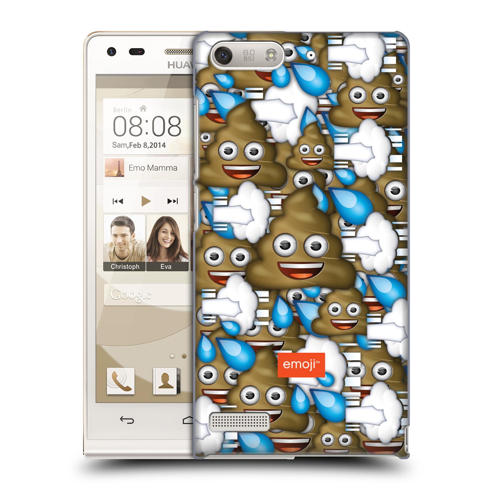 Plastové pouzdro na mobil Huawei Ascend G6 HEAD CASE EMOJI - Hovínka a prdíky (Kryt či obal s oficiálním motivem EMOJI na mobilní telefon Huawei Ascend G6 bez LTE)