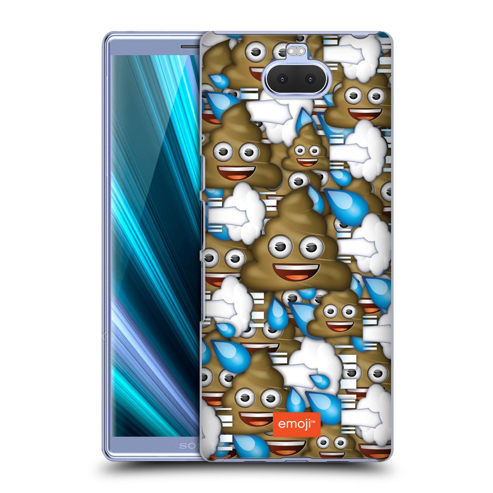 Pouzdro na mobil Sony Xperia 10 Plus - Head Case - smajlíci oficiální kryt EMOJI hovínko