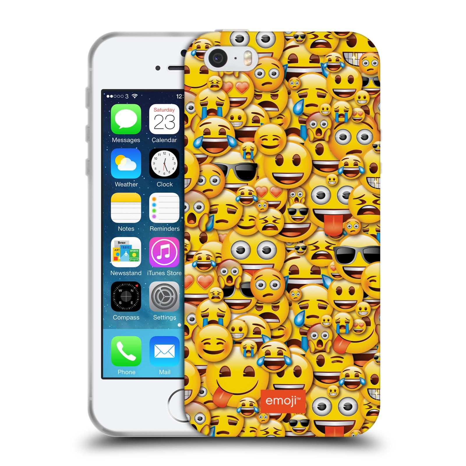 HEAD CASE silikonový obal na mobil Apple Iphone 5 5S smajlíci oficiální kryt  EMOJI vzor smajlící žlutá hromada d54f2112203